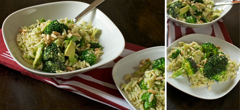 These Salty Oats - Weekday Lunch: Orzo with Broccoli Pesto